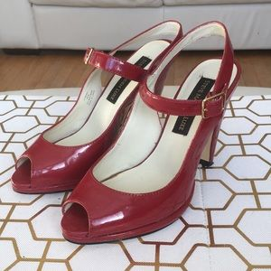 Steve Madden Luxe Red Patent Leather Slingback
